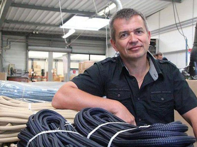 Nicolas Lancelin is de specialist in lijnen voor boten.